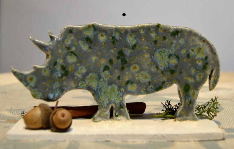 Rhinocéros à poser